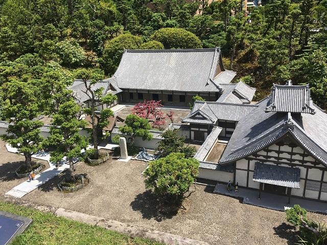 宮城県にあるお寺の模型